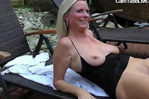 Gangbang With A Blonde MILF Party Outside